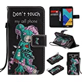 Ooboom® Samsung Galaxy A3 2016 Coque PU Cuir Flip Housse Étui Cover Case Wallet Portefeuille Supporter avec Fentes pour Cartes pour Samsung Galaxy A3 2016 - Don't Touch My Cell Phone