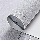 XPY-Wallpaper Moderne minimalistische Marmor Gestreifte Tapete Vlies Deerskin Wohnzimmer TV Hintergrund Wand Papier Schlafzimmer 3D, grau