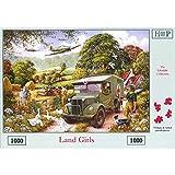 The House Of Puzzles Puzzle Land Girls, 1.000 Teile Retro-Kriegs-Motiv Land Girls