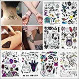 COKOHAPPY 8 Blätter Traumfänger , Bunte Tier , Diamant Over 100+ Tattoos Look Echt Flash Flash Temporäre Tattoo (Value Set)