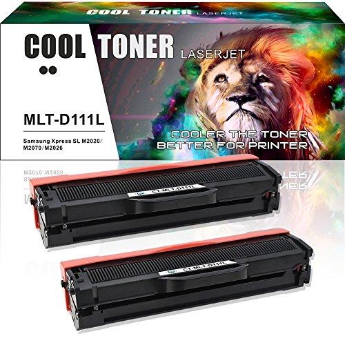 Cool Toner 2 Pack Kompatibel für Samsung MLT-D111L MLT-D111S D111S 111S (80% Mehr Inhalt!) für Toner Samsung Xpress M2026 M2026 Toner Samsung M2070 M2070W M2020 M2020W M2022 M2022W Drucker Schwarz