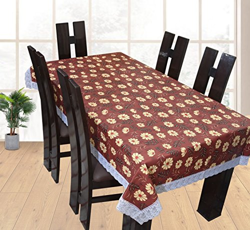 Yellow Weaves Waterproof Dining Table Cover - Wine (90*60 Inches)