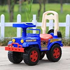 GoodLuck Baybee Ride on Jeep Push Car for Boys and Girls, 1-2 Years (Blue)