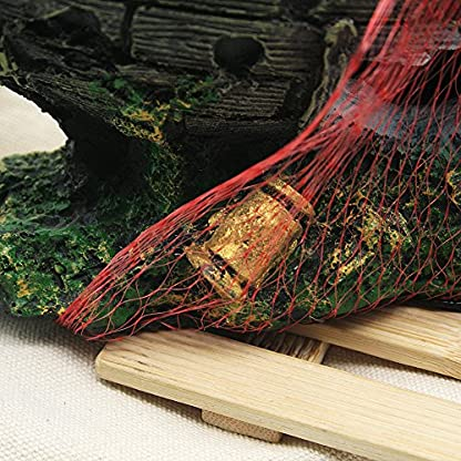 Dimart Simulation Lifelike Artificial Resin Dead Tree Trunk Landscaping Aquarium Ornaments for Fish Tank Grey 5