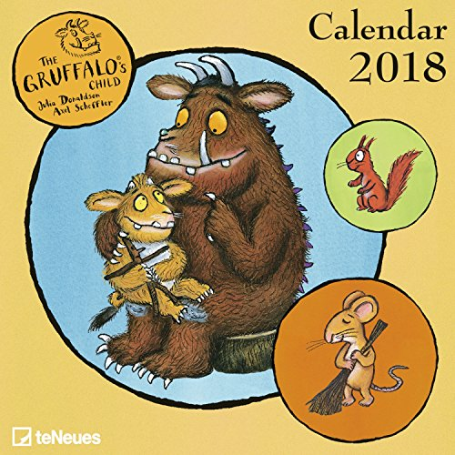 2018 Gruffalo's Child Mini Grid Calendar - teNeues Childrens Calendar - 17.5 x 17.5 cm