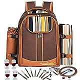 Picknick-Rucksack für 4 Personen Besteck Hamper Set ist ähnlich wie Basket Bag (Kaffee)