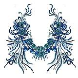Blue Vessel Spitze Pailletten Blumen Stickerei Nähen Bügeln auf Patches Abzeichen Tasche Applique Kleid T-Shirt Jeans Hut Cheongsam Für Dekor