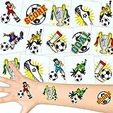 German-Trendseller  - Fußball Tattoos Set ┃ NEU ┃ Fußball Party ┃ Kindergeburtstag ┃ Mitgebsel ┃36 Tattoos