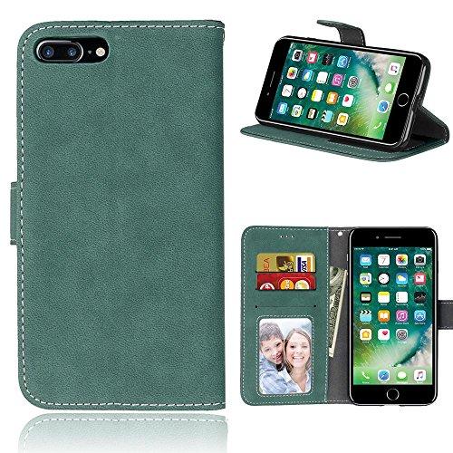 iPhone 7 Plus (5,5 Zoll) Hülle, Cozy hut TPU Silikon Hybrid Handy Hülle Matte Series Case Durchsichtig Stoßfest Tasche Schutz Scratch-Resistant de protection Case Tasche Etui Shell für iPhone 7 Plus ( Grüne bereift
