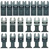 20 x TopsTools FAK20 Fast Fit Mix Blades for Dewalt, Stanley, Black and Decker, Bosch, Fein Multimaster, Multitalent, Makita, Milwaukee, Einhell, Ergotools, Hitachi, Parkside, Ryobi, Worx, Workzone Multitool Multi Tool Accessories