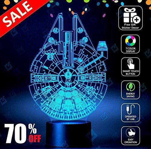 Holinox Millennium Falcon Star Wars Lighting Lampada Gadget Decor Awesome Gift