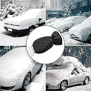YUEMA Ice Scraper Mitt Windschutz Snow Scrapers mit wasserdichter Snow Remover Handschuh von Thick Fleece Black