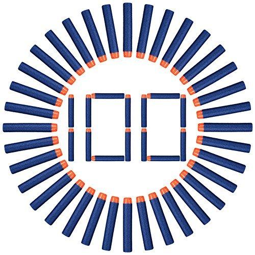 Acefun 100er Dart 7.2cm Nachfüllschaum Dart Bullet für Nerf N-Streik Elite Serie Blasters Kid Nerf Spielzeug Pistole Nachfüllpackung Blau