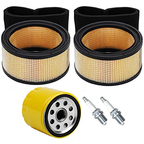 Air Pre Cleaner (OxoxO 45 883 02-S1 Engine Air Filter With Pre-Cleaner Oil Filter Spark Plug Kit For K341, M10 - M16, KT Dome Style, CV17 - CV25)