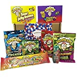 Warheads Extreme Super Sour American Candy Selection Gift Box - 14 Packs - Hamper Exclusive To Burmont's
