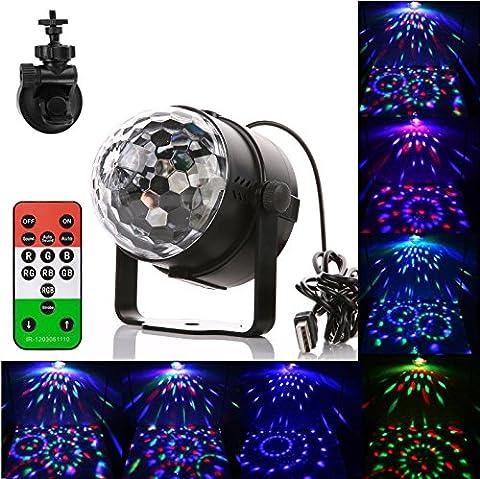 Bühnenlampen, Discokugel Gledto LED Glühbirne Beleuchtung RGB Disco Leuchte Partyleuchte discolicht Partydeko mit Fernbedienung