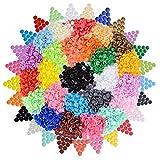 AONER (500 pz 25 Colori) Bottoni Plastica Automatici Colorati Decorativi Chiusura a Pressione per Cucito Creativo Fai da Te Borse