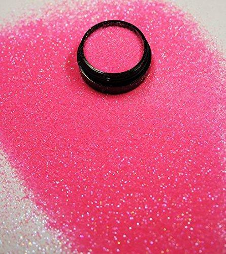 3 ml Glitterstaub (0,2mm) Babyrosa in Acryl Tiegel