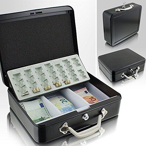 30cm schwarz Geldtransportbox Geldkassette Münzzählbrett Zähl- und Transportkassette Münzkassette Geld Kasse Geldkasse Transportbox 300mm