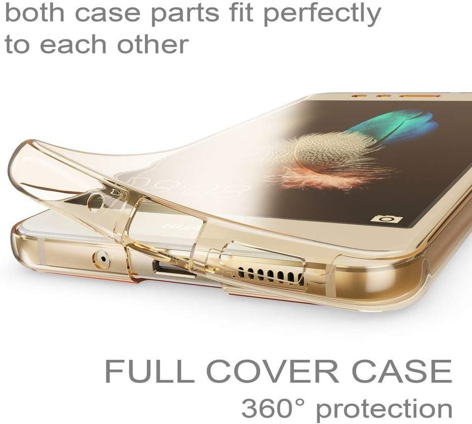 Custodia per HUAWEI P10 LITE Cover Fronte Retro 360°FullBody Touch Silicone
