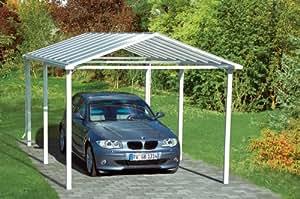 Beckmann aluminium carport 310 x 510 x 267 wei for Beckmann aluminium carport