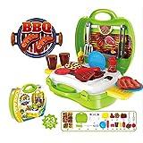 Eizur 23Pcs Gill Kit Giocattoli Barbeque Set Finta di giocare d'imitazione Giochi con Trasportare caso per bambini