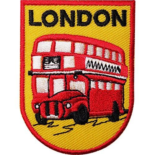 Autobús Londres bordado hierro/para coser ropa parche