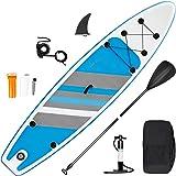 inty Stand Up Paddle Board Inflable, Paddle de PVC/EVA con Remo Ajustable, Bomba de Doble acción, Correa de Transporte, Caja
