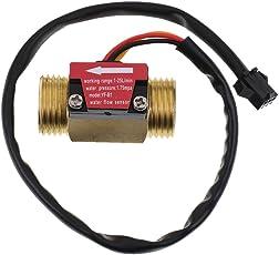 MagiDeal Water Flow Sensor 1.75Mpa G1/2'' Pulse Hall Flow Meter Switch 1-25L/Min Flow Measuring Instruments