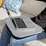 SoBuy® FBT28-SIL Laptop-Schoßtablett, Notebookablage, Betttisch, silber