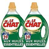 Le Chat Huiles Essentielles - Lessive Liquide - Lot de 2 x 1,95L - 78 Lavages