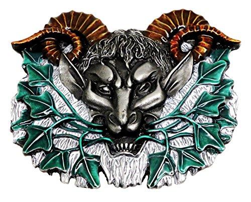 Pan Gürtelschnalle den griechischen Gott der Natur Authentische Dragon Designs Markenprodukt (Griechisch-gürtelschnalle)