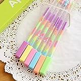 Gelstifte in sechs Farben, Farbverlauf, zum Basteln/ Dekorieren/ Malen/ Zeichnen, für Sammelalbum/ Hochzeit, 1 Stück