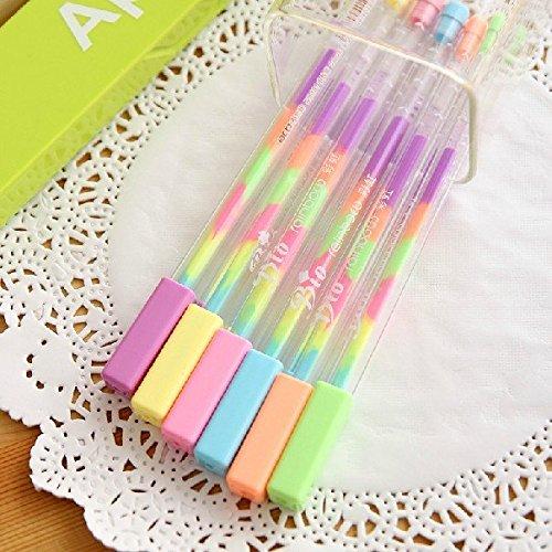 Gelstifte in sechs Farben, Farbverlauf, 1 Stück