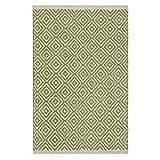 Fair Trade Diamond Weave 100% Baumwolle Handwebteppich mit genähter Kante 60x90cm, Textil, graugrün, 60 x 90
