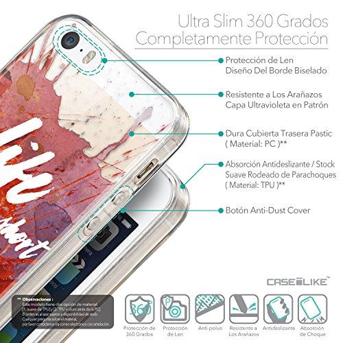 CASEiLIKE Citation 2429 Housse Étui UltraSlim Bumper et Back for Apple iPhone SE +Protecteur d'écran+Stylets rétractables (couleur aléatoire) 2423