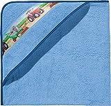 Kinderbutt Kapuzenbadetuch Frottier hellblau Größe 140x140 cm