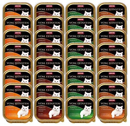 Animonda vom Feinsten Katzenfutter Adult Mix 1 Geflügel-Kreationen aus 4 Varietäten, 32er Pack (32 x 100 g)