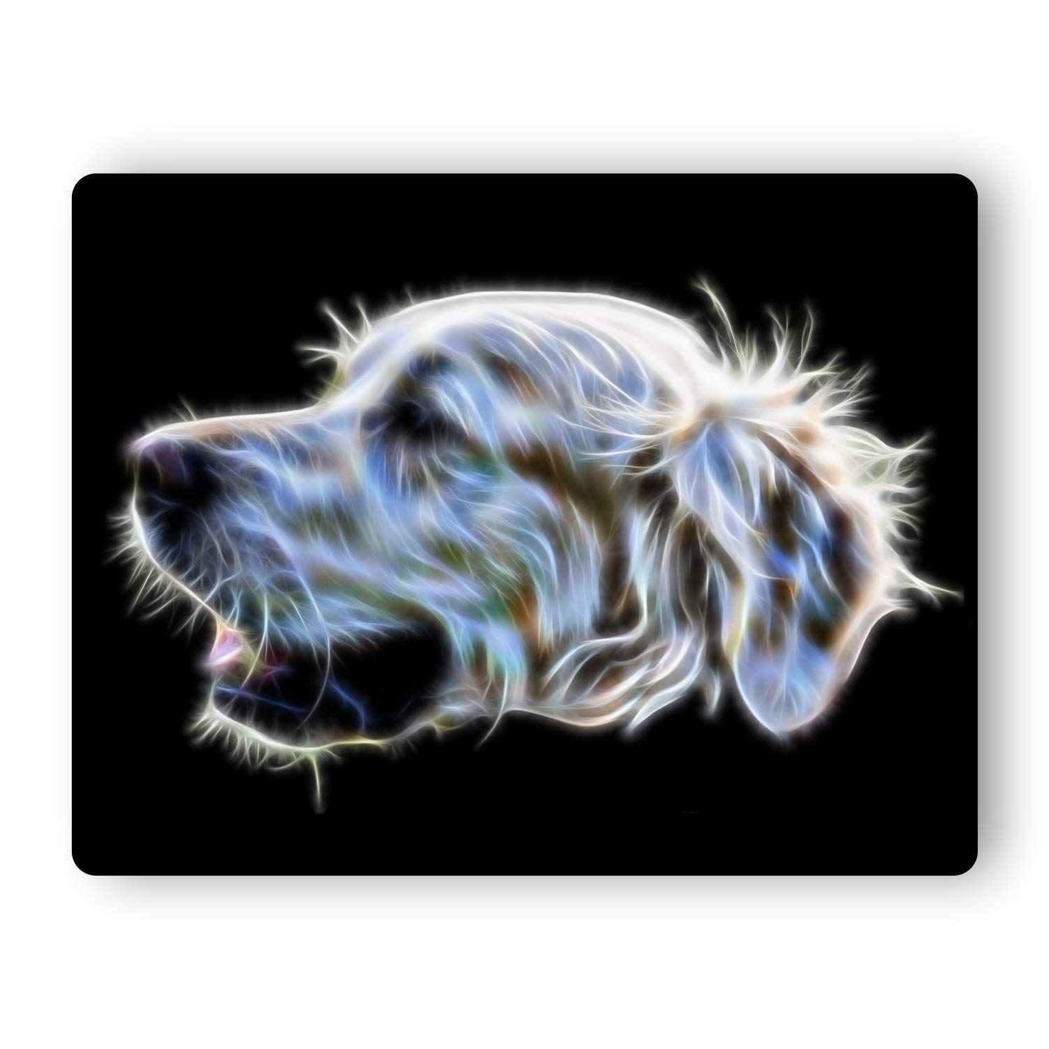 Fractal Artworks Aluminium Metal Wall Plaque with Stunning Dog Fractal Art Design