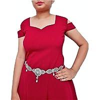 WomenSky Stylish Oxidized Silver Kamarband for Girls & Women