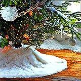 Gonna Albero di Natale in Pelliccia sintetica 30 pollici, Coperta in Albero di Natale in pura peluche bianca per Buon Natale e Capodanno Festa in casa Decorazioni per la casa