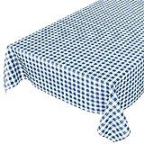 ANRO Tischdecke Wachstischdecke Wachstuch Wachstuchtischdecke Karo Klassik Meterware Blau 220x140cm