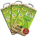 3x24 =72 Liter GreenCat ÖKO-PLUS NATURSTREU GREEN CAT`S KATZENSTREU - BEST STREU CornCat - kostenloser Versand innerhalb Deutschlands (außer Inseln)