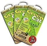 GreenCat, Lettiera ecologica per gatto, 3 pezzi da 24 litri