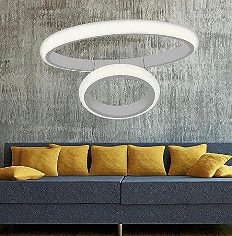 Ringleuchte Zwei Ringe Hängelampe Wohnzimmer Modern Led Dimmbar Esstischlampe Rund Wohnzimmerlampe Pendelleuchten Decke Lampe Esstisch Licht Hängeleuchte Leuchten Küchenlampe Beleuchtung