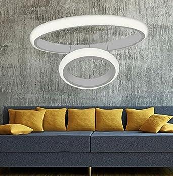 Ringleuchte Zwei Ringe Hngelampe Wohnzimmer Modern Led Dimmbar Esstischlampe Rund Wohnzimmerlampe Pendelleuchten Decke Lampe Esstisch Licht Hngeleuchte