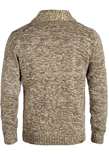 BLEND Tigre Herren Strickjacke Cardigan mit Schalkragen aus hochwertiger Baumwollmischung Meliert Dark Mustard (75116)