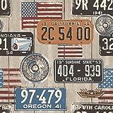 UGEPA Vinyltapete American Dream, mehrfarbig, E80901
