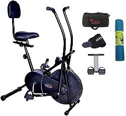 Lifeline 103BS Exercise Bike   Bonus Yoga Mat 6 mm (Color May Vary), Gym Bag, Sweat Belt and Tummy Trimmer