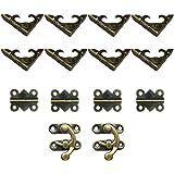 DELSEN Retro Ontwerp Decoratieve Kast Sieraden 4 stks Vlinder Vormige Scharnier en 8 stks Doos Hoek Protectors Kit
